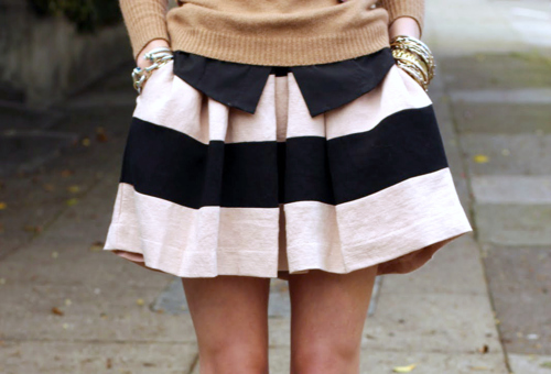 bracelets, fashion, girl, jewelry, jumper, legs, lovely, model, pretty, skinny, skinny legs, skirt, stripy