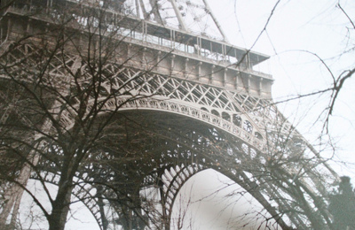 branches, eiffel, eiffel tower, france, paris, sky, tower, trees