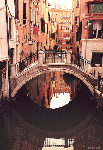 bridge, creek, cute, italy, photography, pretty, river, travel, venice, vintage