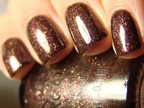 brown, glitter, nail polish, nails
