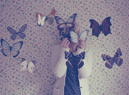 butterflies, girl, photography, vintage, wallpaper