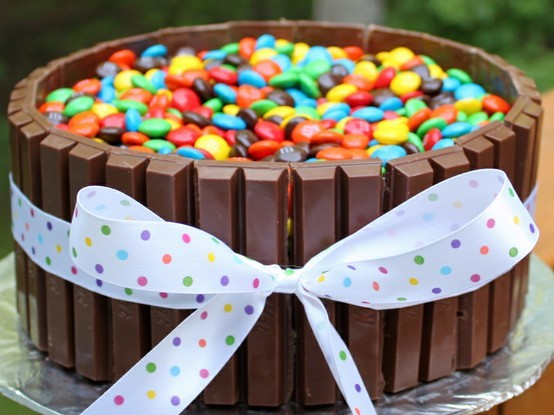 cake, delicious, food, kitkat, m&m