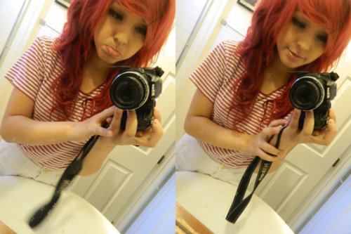 camera, girl, iliikeplasticforks, red hair