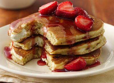 cant resist it, fav, pancakes, red, strawberry