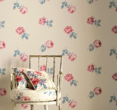 chair, floral, vintage, wallpaper