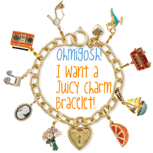 charm bracelet, charms, cute, girly, juicy