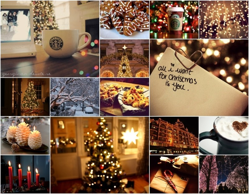 chirstmas, christmas, coffee, collage, cozy