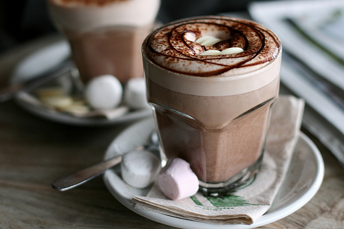 chocolate, food, hot chocolate, marshmallows - image #288138 on Favim ...