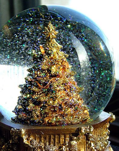 christmas, christmas tree, snow globe, winter, xmas