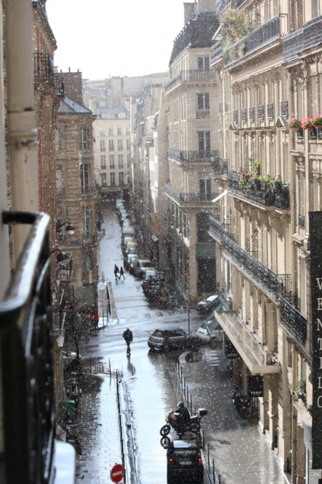city, mini cooper, paris, snow, winter