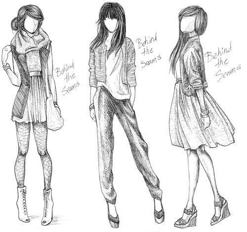 Fashion Drawing Drawing Fashion Clothes
