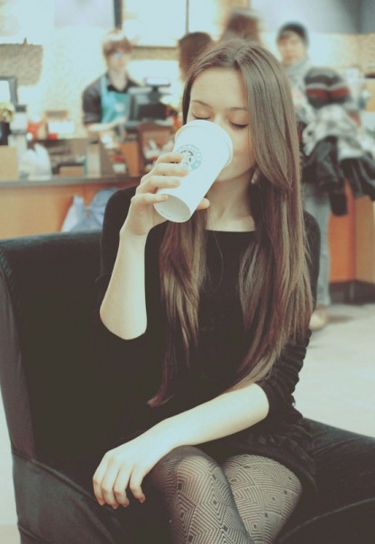 coffe, cute, girl, hair, love, russia, starbucks, sweet