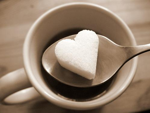 coffee, cup, heart, spoon, sugar