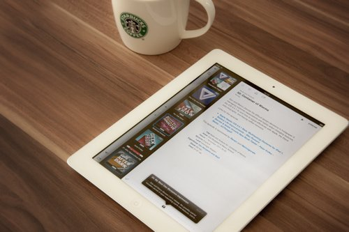 coffee, fashion, ipad, wood
