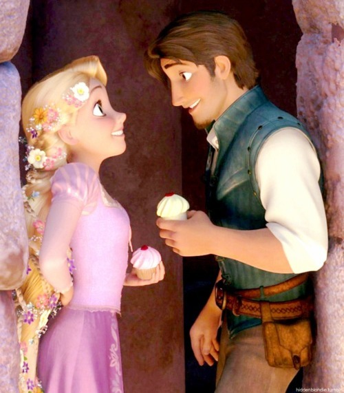 couple, cupcakes, cute, disney, flynn rider