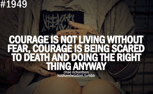 courage  fear  quote  quotes  text  wordsQuotes About Courage Tumblr