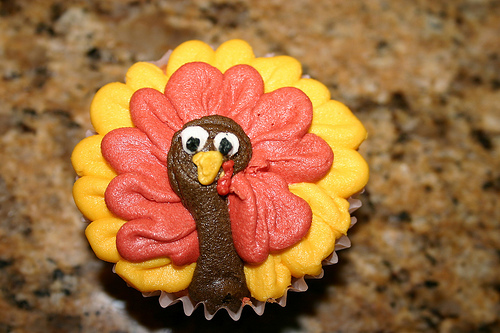 cupcake, cute, desert, food, thanksgiving, turkey, yummy