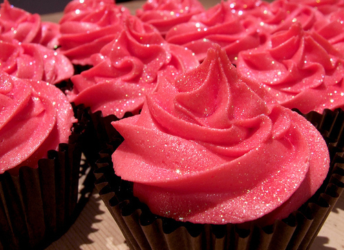 cupcakes, cute, delicious, food, glitter, pink
