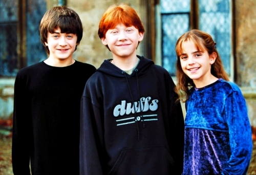 cute, daniel radcliffe, emma watson, harry potter, hermione granger