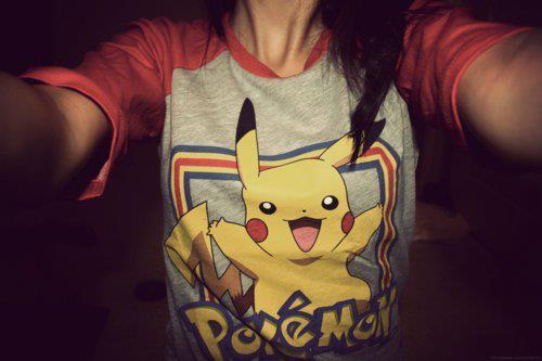 cute, fashion, girl, hair, ivaa stojcic, photography, pikachuuuuu<3, pokemon, sweet, t-shirt, text