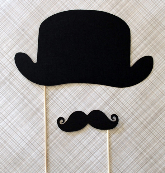 decoration, funny, hat, moustache, party