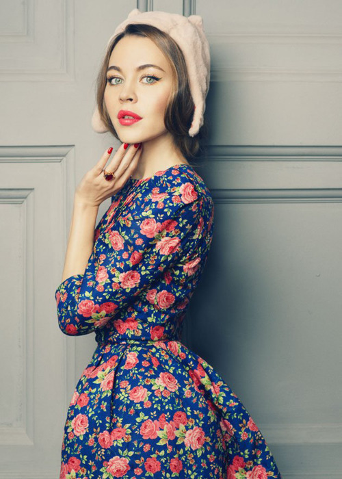 delicate, dress, fashion, floral, girl