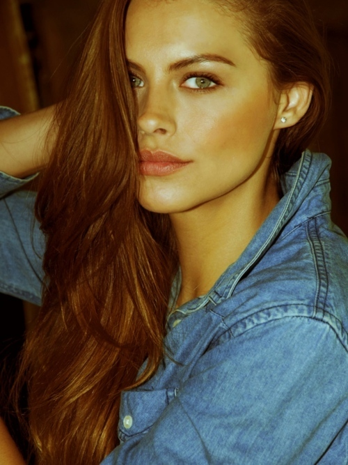 denim, eyes, fashion, girl, green eyes