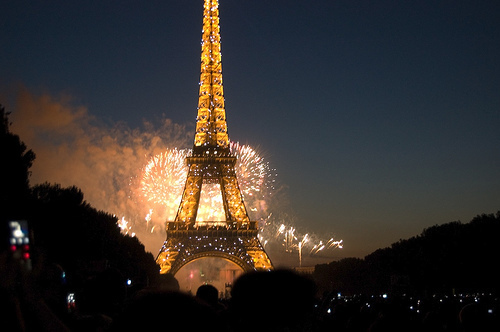 eiffel, eiffel tower, france, lights, night