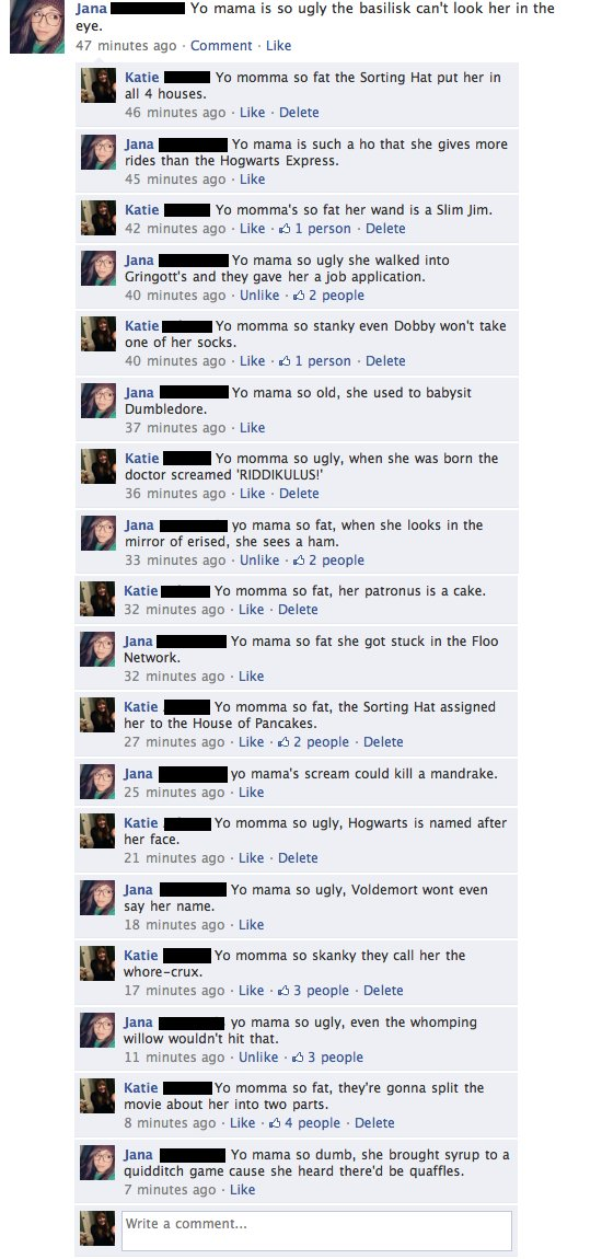 facebook, funny, harry, harry potter, jokes