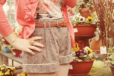 fashion, floral, floral shorts, flowers, jacket