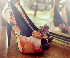 fashion, flower, flowers, high heel, high heels