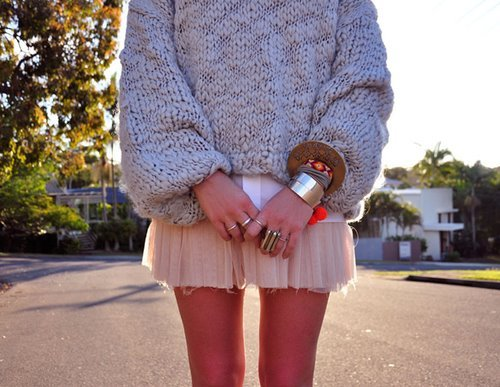 fashion, gold, outfit, rings, skirt