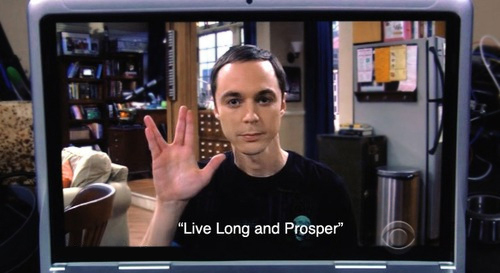 funny, live long and prosper, sheldon, sheldon cooper ...