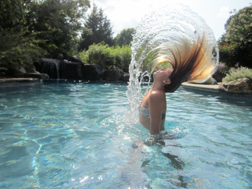 hair, mermaid, pool, style, summer