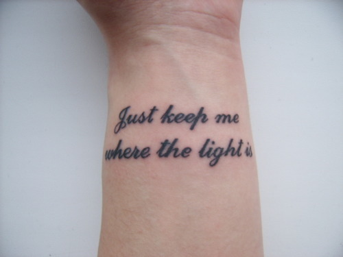 john mayer, tattoo, where the light is