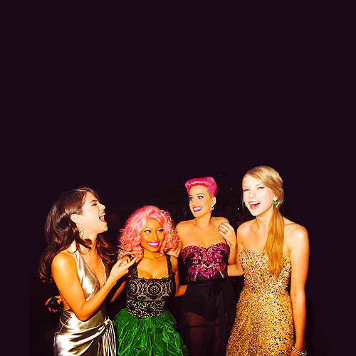 katy perry, nicki minaj, selena gomez, taylor swift, yellow people
