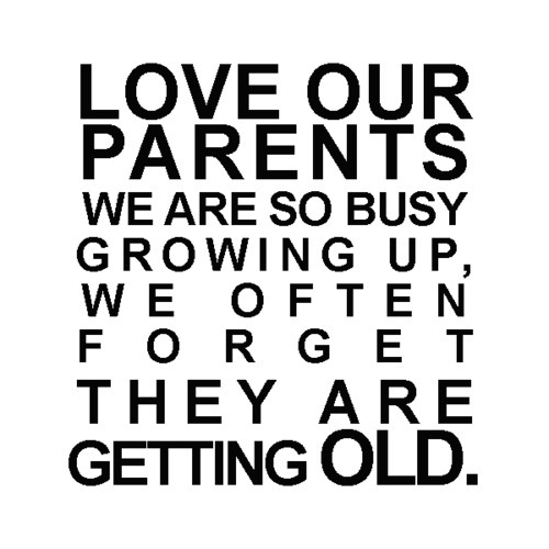 love, old, parents