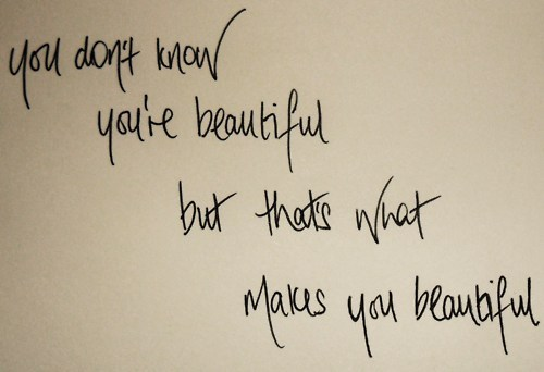 lyrics, one direction, text, what makes you beautiful