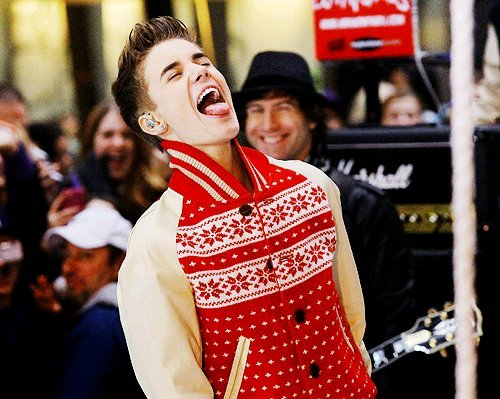 """im normal"", belieber, christmas, justin bieber, love, mistletoe, red, today show, white"