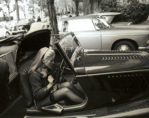 1967, belle de jour, black and white, car, catherine deneuve