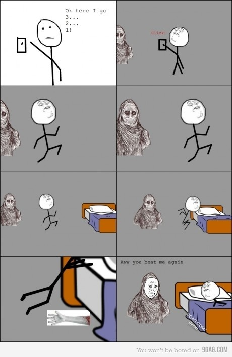9gag, accurate, bed, funny, hahahahaha, lol, meme, monster, nice, night, reddit, text, truth