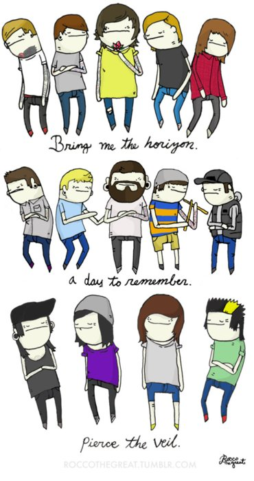 a day to remember, adtr, bmth, bring me the horizon, haha