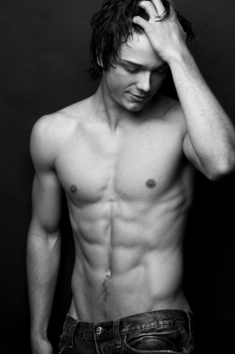 abs, beautiful, black & white, boy, cute