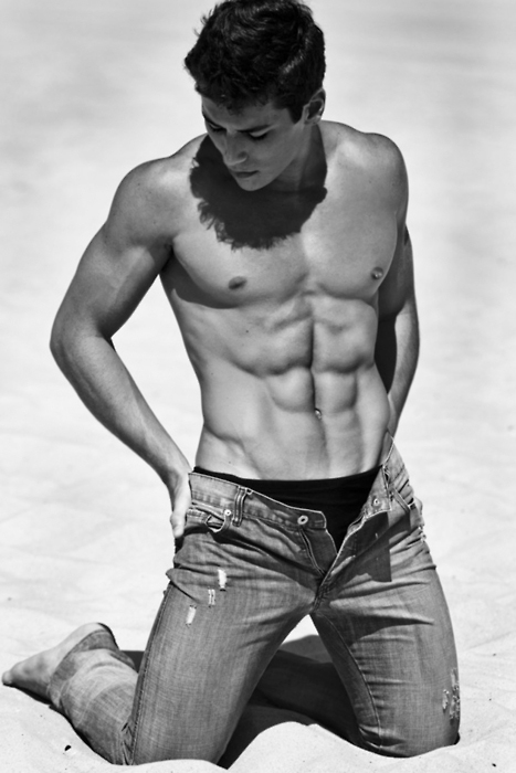 abs, beautiful, black &amp; white, boy, cute