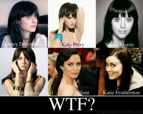 actress, coincidence, emily blunt, katie featherston, katy perry, mia kirshner, same, singer, siwan morris, skins, totally looks like, wtf, zooey deschanel