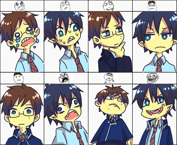 adorable, ao no exorcist, blue, blue flame, cute