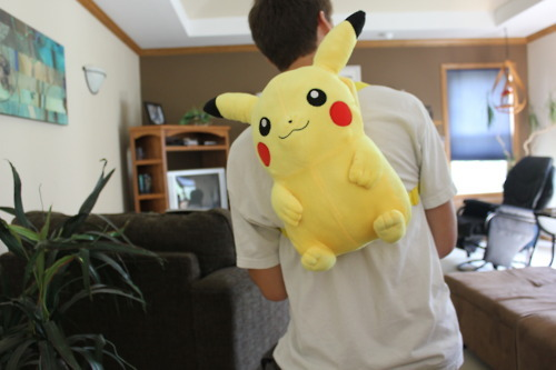adorable, backpack, bag, boy, cute, funny, gamer, girly, guy, humour, nerd, peekachu, pokemon