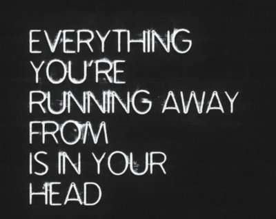 advice in your head quote running from text image