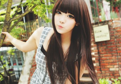 aegyo, bangs, brown, hair, korea, korean, plaid, pretty, straight, uhljjang, uljjang, ulzzang