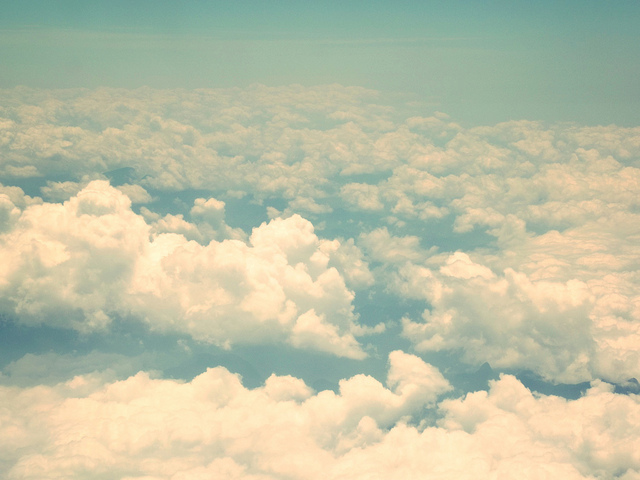 airplane, blue, cloud, clouds, edit